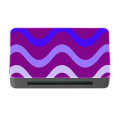Purple Waves Memory Card Reader with CF