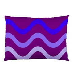 Purple Waves Pillow Case (Two Sides)