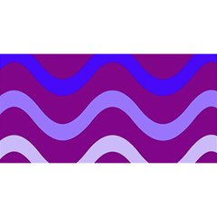 Purple Waves YOU ARE INVITED 3D Greeting Card (8x4)