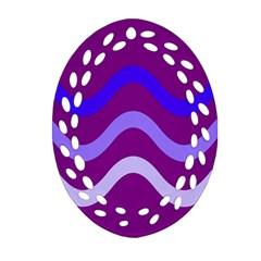 Purple Waves Oval Filigree Ornament (2-Side)