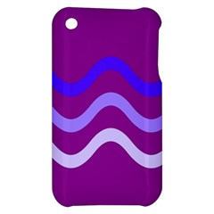 Purple Waves Apple iPhone 3G/3GS Hardshell Case