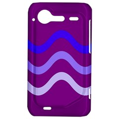 Purple Waves HTC Incredible S Hardshell Case