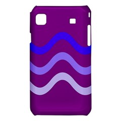 Purple Waves Samsung Galaxy S i9008 Hardshell Case