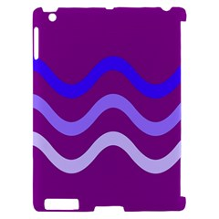 Purple Waves Apple iPad 2 Hardshell Case (Compatible with Smart Cover)