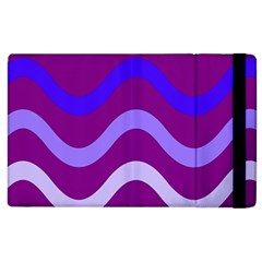 Purple Waves Apple iPad 2 Flip Case