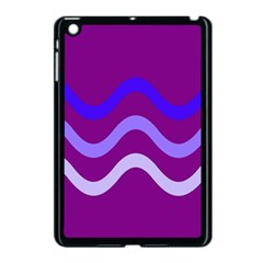 Purple Waves Apple iPad Mini Case (Black)