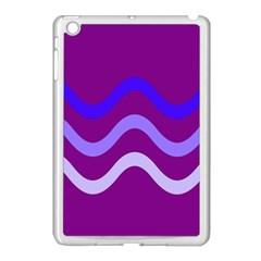 Purple Waves Apple iPad Mini Case (White)