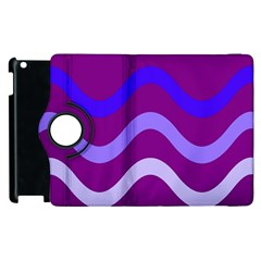 Purple Waves Apple iPad 3/4 Flip 360 Case