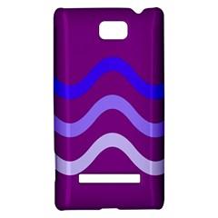Purple Waves HTC 8S Hardshell Case