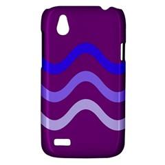 Purple Waves HTC Desire V (T328W) Hardshell Case