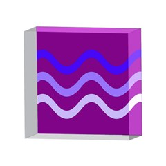 Purple Waves 4 x 4  Acrylic Photo Blocks