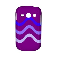 Purple Waves Samsung Galaxy S6810 Hardshell Case