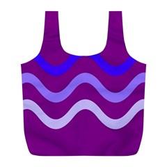 Purple Waves Full Print Recycle Bags (L)