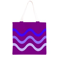 Purple Waves Grocery Light Tote Bag