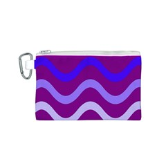 Purple Waves Canvas Cosmetic Bag (S)