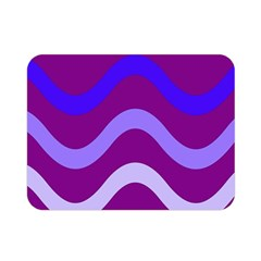 Purple Waves Double Sided Flano Blanket (Mini)