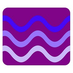 Purple Waves Double Sided Flano Blanket (Small)