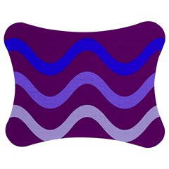 Purple Waves Jigsaw Puzzle Photo Stand (Bow)