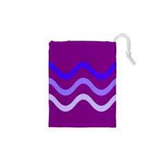 Purple Waves Drawstring Pouches (XS)
