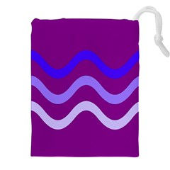 Purple Waves Drawstring Pouches (XXL)