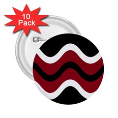 Decorative waves 2.25  Buttons (10 pack)