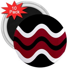 Decorative waves 3  Magnets (10 pack)