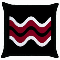 Decorative waves Throw Pillow Case (Black)