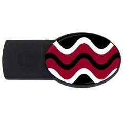 Decorative waves USB Flash Drive Oval (1 GB)