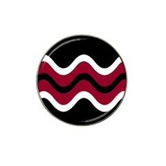 Decorative waves Hat Clip Ball Marker (10 pack)