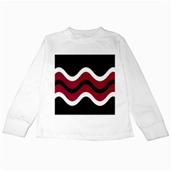 Decorative waves Kids Long Sleeve T-Shirts