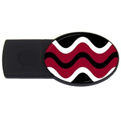 Decorative waves USB Flash Drive Oval (4 GB)