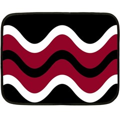 Decorative waves Double Sided Fleece Blanket (Mini)