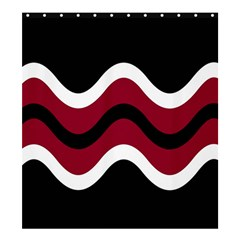 Decorative waves Shower Curtain 66  x 72  (Large)