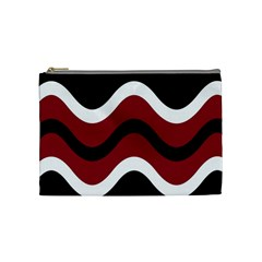 Decorative waves Cosmetic Bag (Medium)