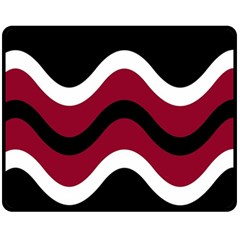 Decorative waves Fleece Blanket (Medium)