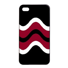 Decorative waves Apple iPhone 4/4s Seamless Case (Black)