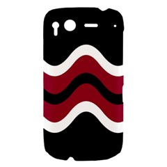 Decorative waves HTC Desire S Hardshell Case