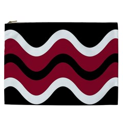 Decorative waves Cosmetic Bag (XXL)