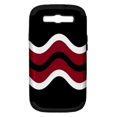 Decorative Waves Samsung Galaxy S Iii Hardshell Case (pc+silicone)
