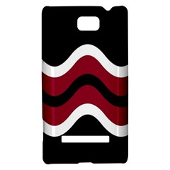 Decorative waves HTC 8S Hardshell Case