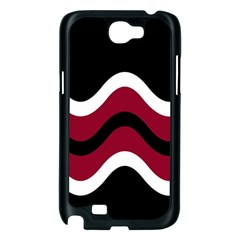 Decorative waves Samsung Galaxy Note 2 Case (Black)