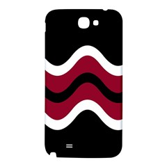 Decorative waves Samsung Note 2 N7100 Hardshell Back Case