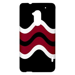 Decorative waves HTC One Max (T6) Hardshell Case