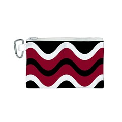 Decorative waves Canvas Cosmetic Bag (S)