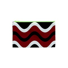 Decorative waves Cosmetic Bag (XS)