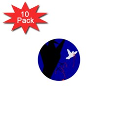 Night birds  1  Mini Buttons (10 pack)