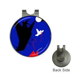 Night birds  Hat Clips with Golf Markers