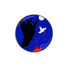 Night birds  Hat Clip Ball Marker