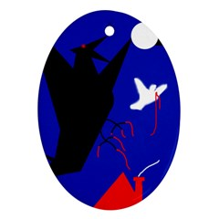 Night birds  Oval Ornament (Two Sides)