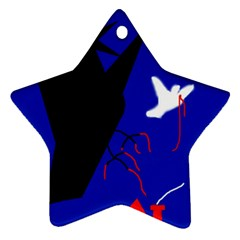 Night birds  Star Ornament (Two Sides)